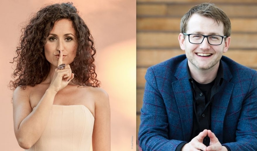 Zangeres María Mendes en vibrafonist Vincent Houdijk.