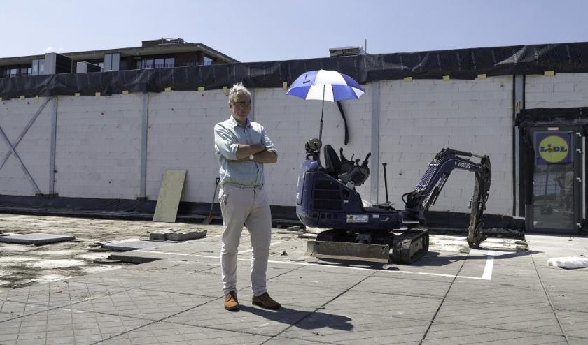 Wijnand Freling is veantwoordelijk voor de uitbreiding Lidl Bloemendaal. Foto: Jan van den Berg