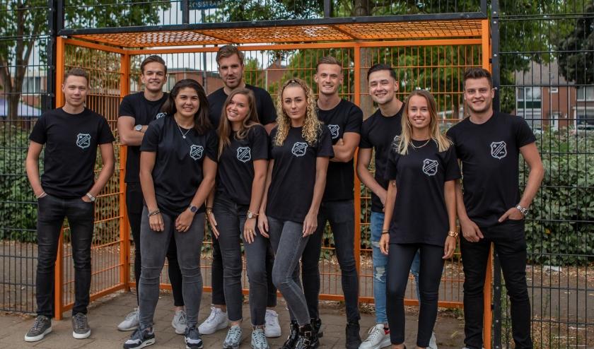 Het promotieteam, vlogteam en de bedenkers van FC Culemborg (Foto: Susanna Leidelmeyer)