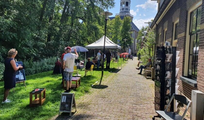 Open ateliers aan de Herengracht is zondag goed voor heel veel verrassende kunst. (Foto: Frieda Waanders)