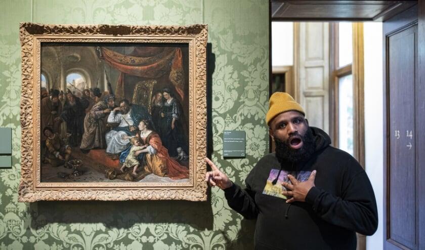 De rapper liet zich voor het nummer Mootje inspireren door dit schilderij van Jan Steen. (Foto: Mauritshuis)