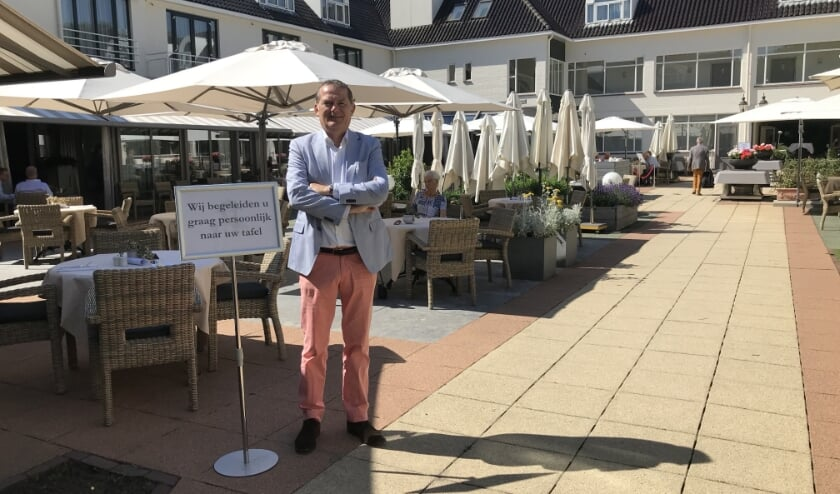 Erik van Dijk is trots op de rust en gastvrijheid die het hotel-restaurant ondanks de restricties uitstraalt.