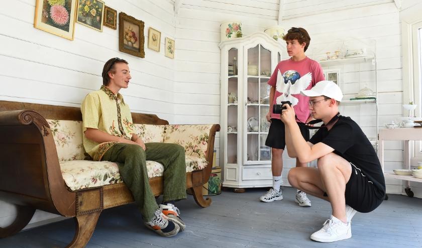 Vlnr: Dan Mango, Pepijn Rözer en Sverre Gerritsen. (foto: Roel Kleinpenning)