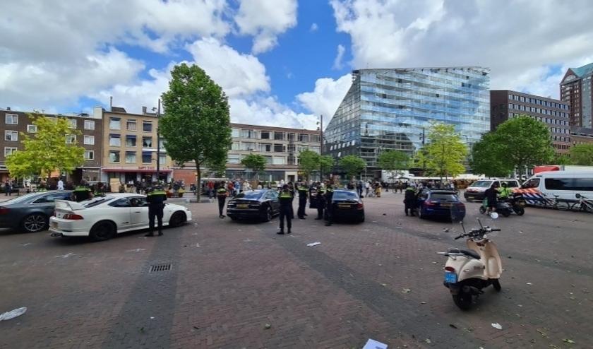 Politieactie bij de Meent van een maand geleden.