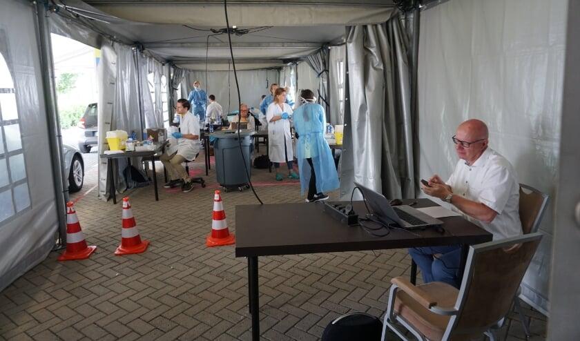 <p>De teststraat in Nootdorp, waar Delftenaren tot nu toe naartoe moesten.</p>