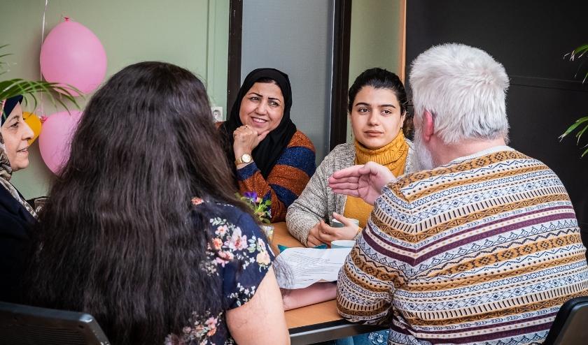 Deelnemers van een Taalcafé
