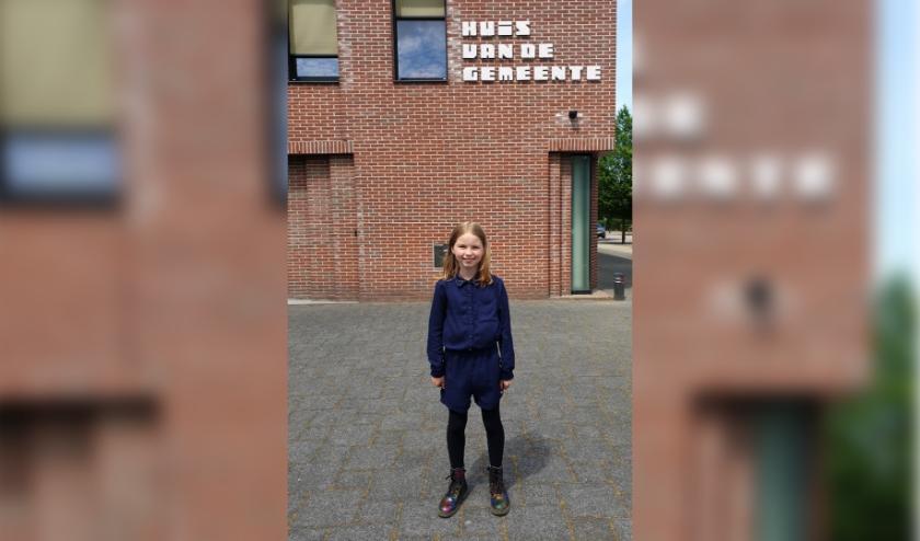 Mila Petersen (11) wordt de eerste kinderburgemeester van Rhenen. (Foto: gemeente Rhenen)