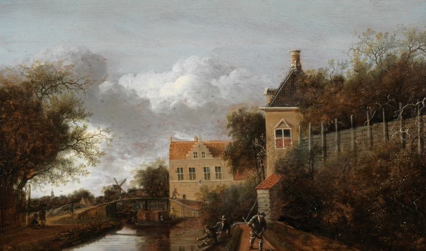 Het bijzondere 17de eeuwse paneel met een voorstelling van het Huis Burchvliet en de Nieuwe Tolbrug is te zien bij Museum Rijswijk.