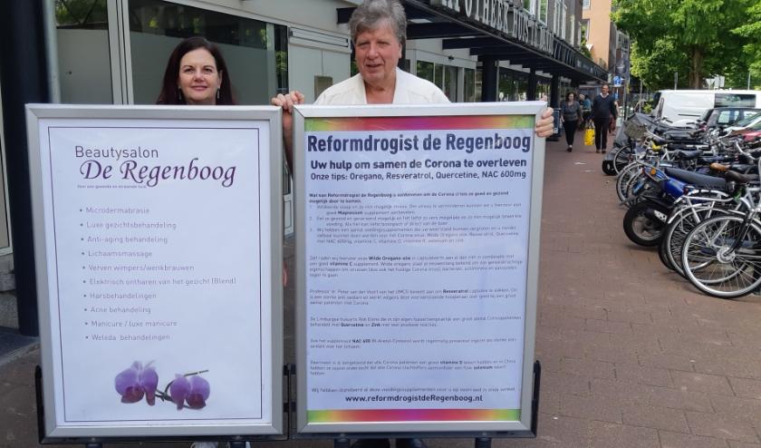 Marja en Wil Visser staan met Reformdrogisterij De Regenboog garant voor een goede kwaliteit. Foto: Frans Limbertie
