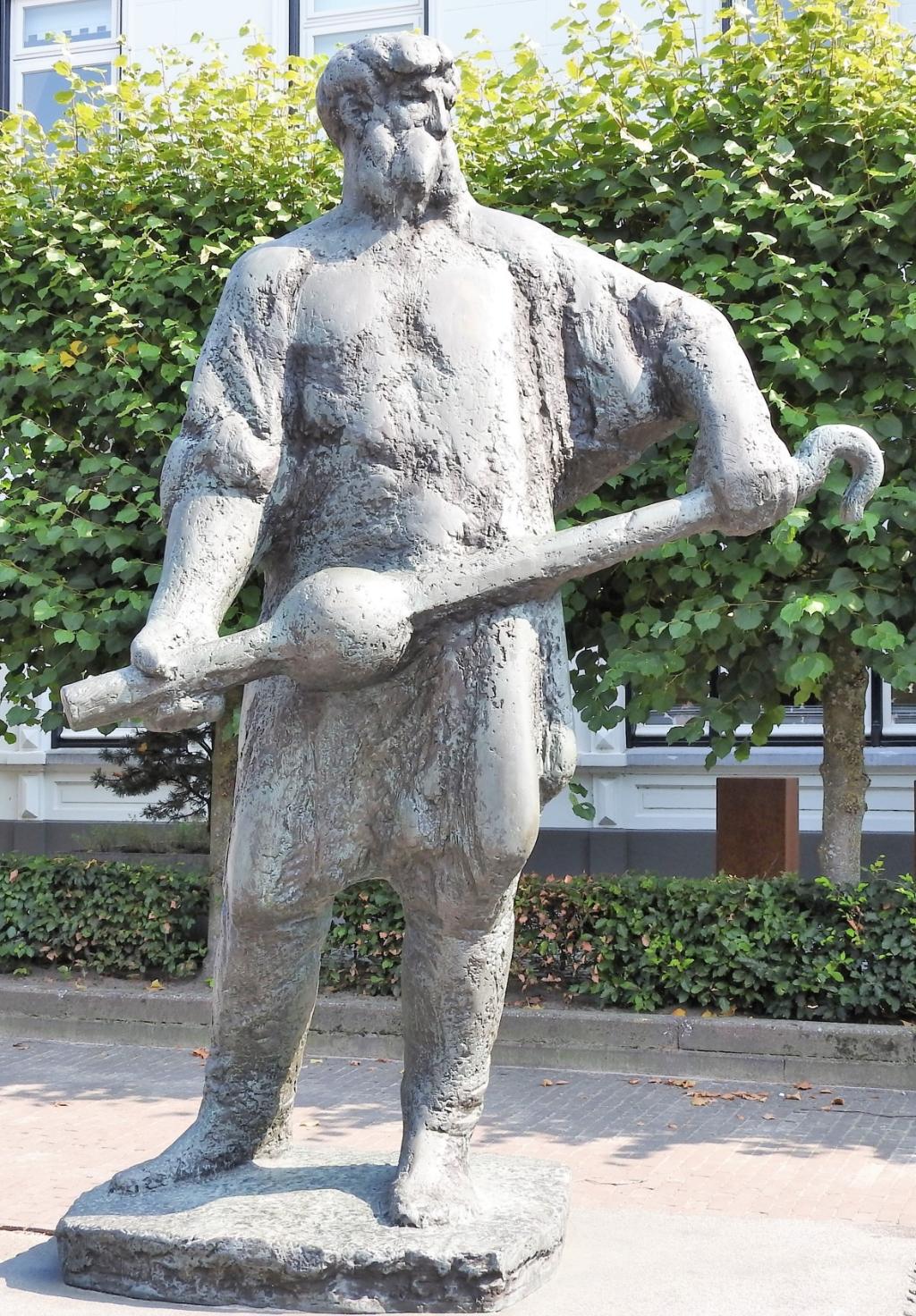 Het beeld van Jan die smet vander Diesdunc, op het Koningsplein in Asten. Foto:  © DPG Media