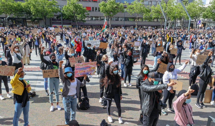 Demonstratie Black live Matters BLM