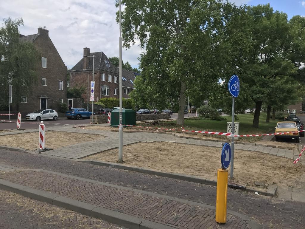 Groen van Prinstererstraat vergroend. Foto: K. Berfelo © DPG Media