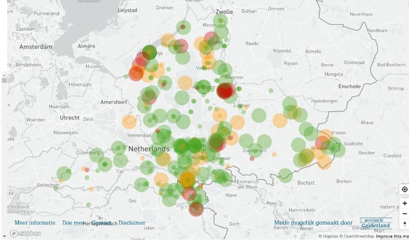 Monitor bezoekersdrukte Gelderland