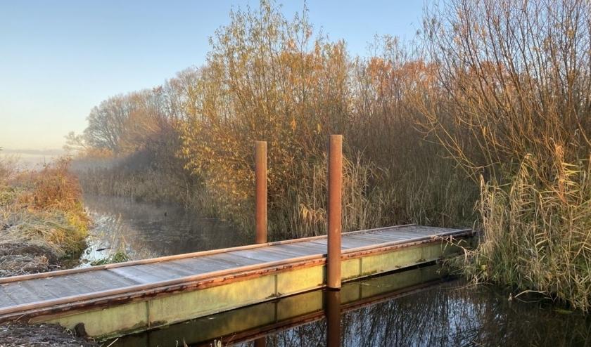 Op de natuurroute zijn meerdere bruggen geplaatst.