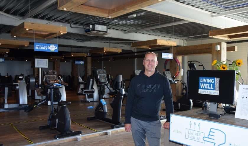 Sportschoolhouder Quinten Wiegers in zijn bedrijf Living Well in Boskoop. Foto: Ronald de Vos