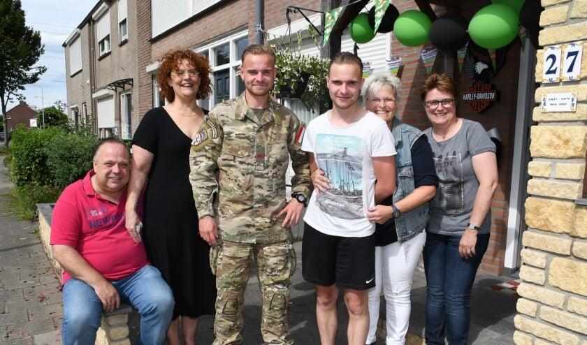 Mike Arens en zijn familie. Foto: Marijke Vermeulen