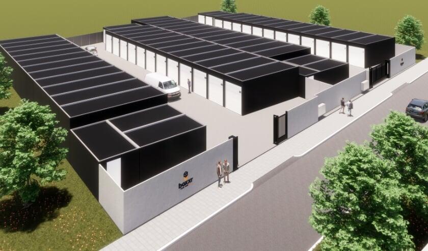 BOXXR bouwt aan de Slachthuiskade in Almelo na de zomer nieuwe opslag- en werkboxen.