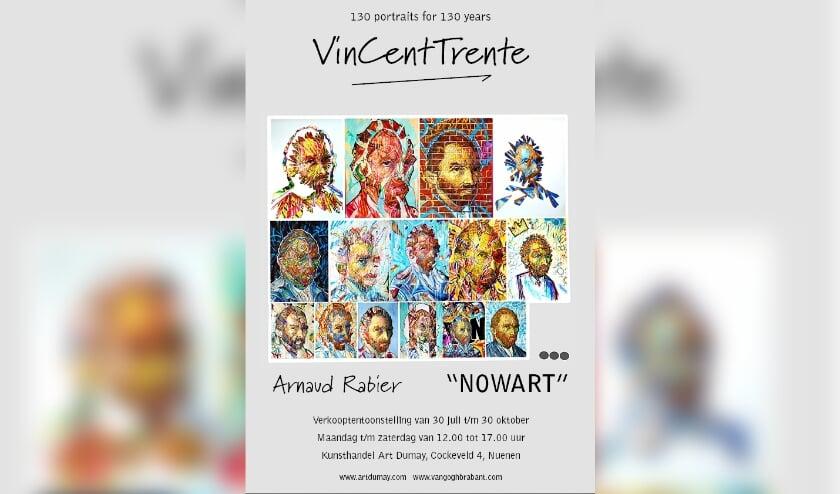 130 portretten van Vincent van Gogh. FOTO: Nowart.