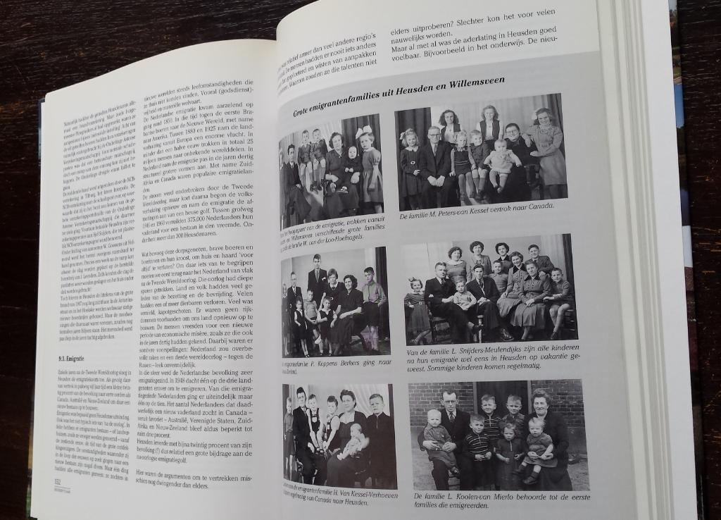 In 1996 werd een kleine selectie van de emigrantenfoto's gepubliceerd in het boek 'Te Heusden bij het Moer'. Foto: Picasa © DPG Media