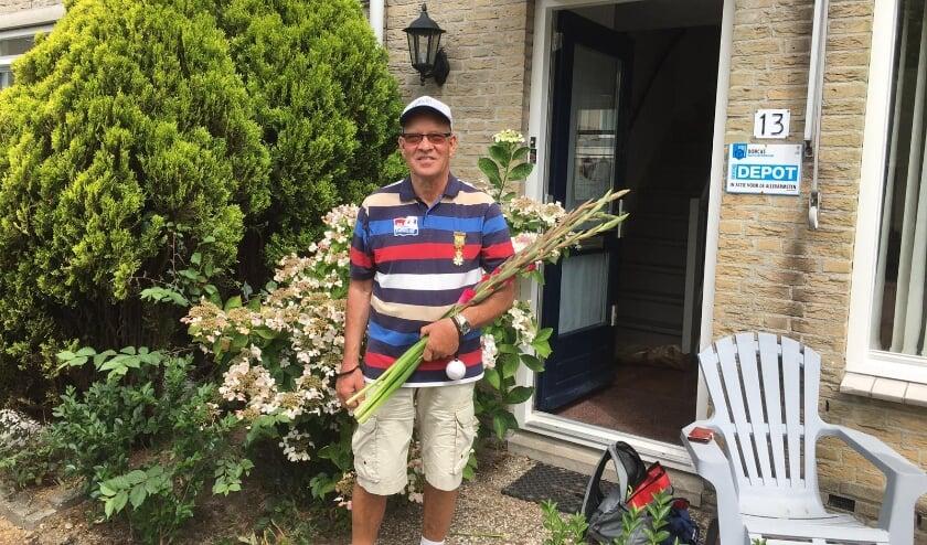 Wim bij aankomst thuis in de Merellaan. Foto: Fam van Dorp