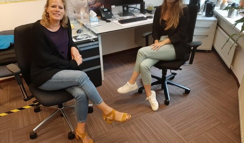 Annet Meeuws (links) en Liz Bloemheuvel.