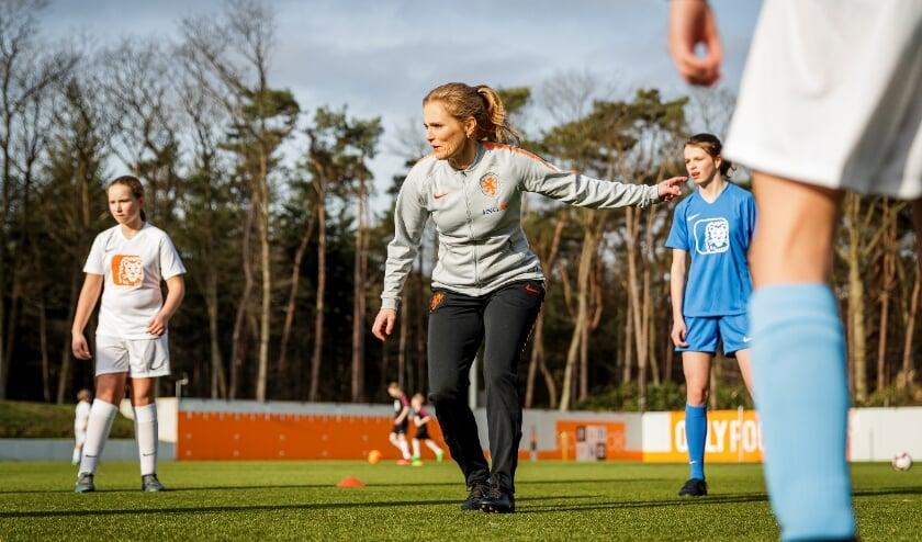 Sarina Wiegman, bondscoach van de Oranje Leeuwinnen.