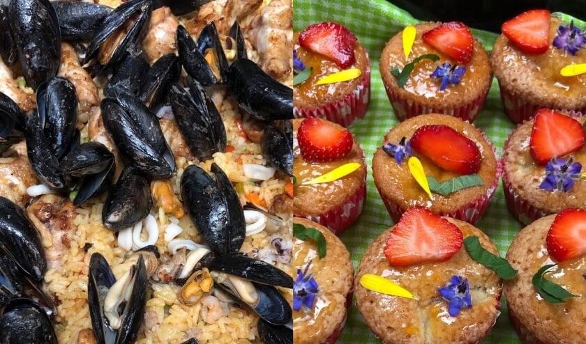 Paella en muffins
