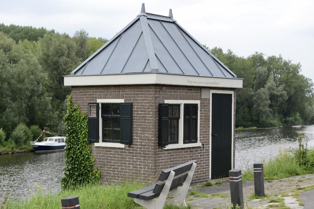 Historisch weeghuisje in 1921 gesticht door polder Spijk Foto:                                      © DPG Media
