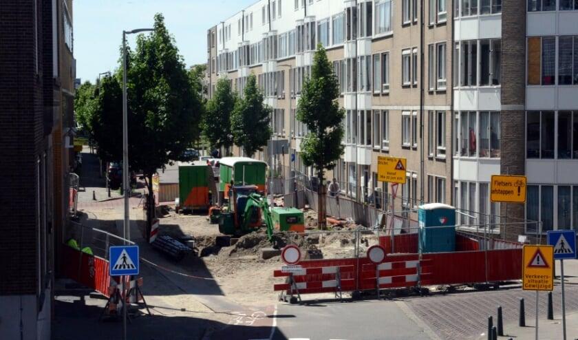 Afsluiting Hoefkade (Foto: Jos van Leeuwen).