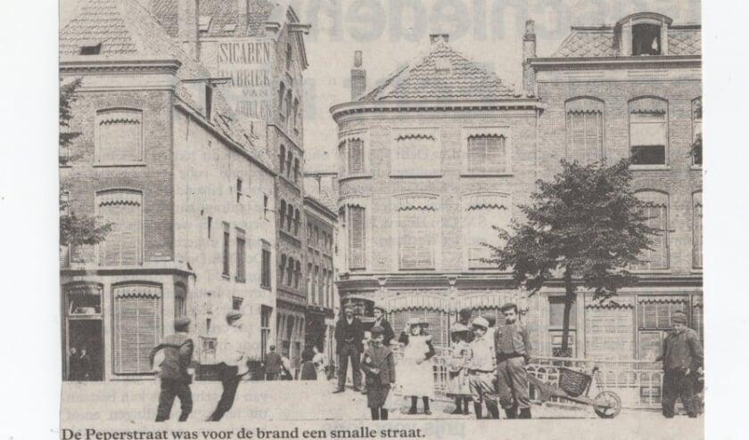 Een foto van de oude Peperstraat