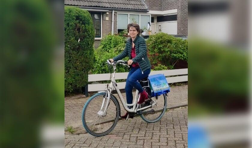 Linda Blankenstein op de fiets. Eigen foto