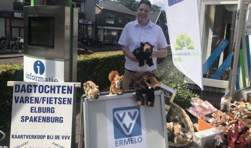 Ronnie Regeling organiseert met de VVV Ermelo deze zomer kleinschalige activiteiten voor inwoners en toeristen. (Foto: Marco Jansen)