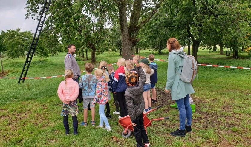 Verjaardagsfeest van de juffen in de kersenboomgaard in Haarzuilens. (Foto:  Sint Bonifatiusschool)