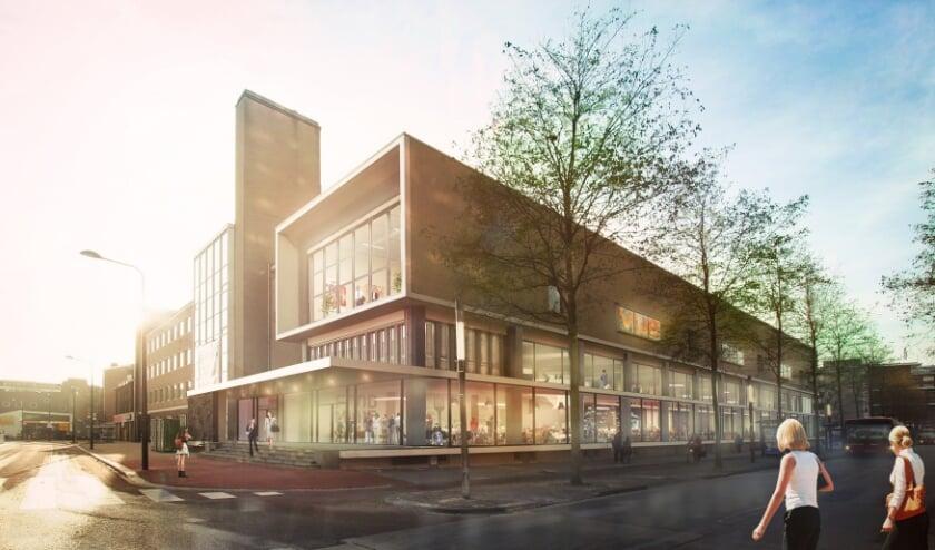 Nieuwe look van het voormalig Postkantoor Enschede.