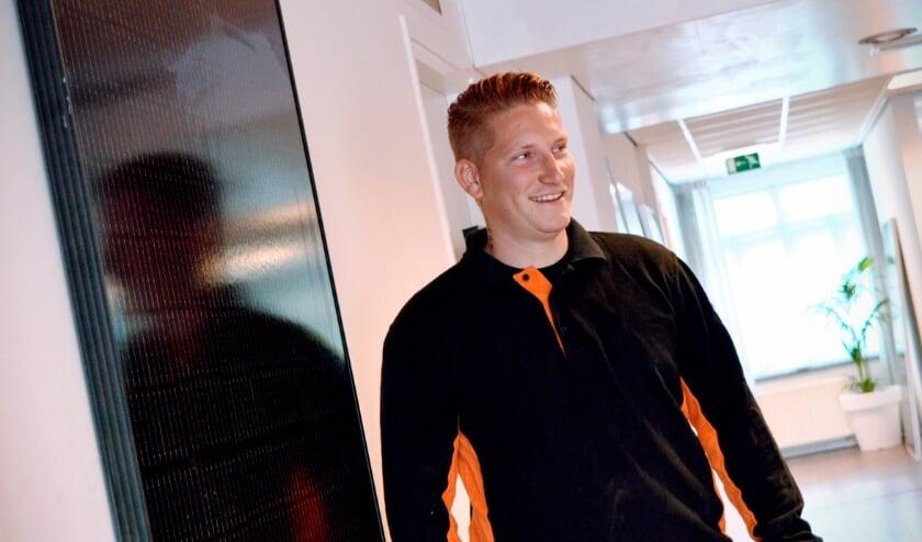 Mitchell Staphorst van Solarvoordeelshop opent op 7 augustus een showroom aan de Hogelandsingel in Enschede. (Foto: Indebuurt.nl)