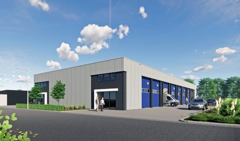 De Marne Vastgoed gaat in Almelo het bedrijfsverzamelgebouw De Turfkade bouwen. Impressie: De Marne