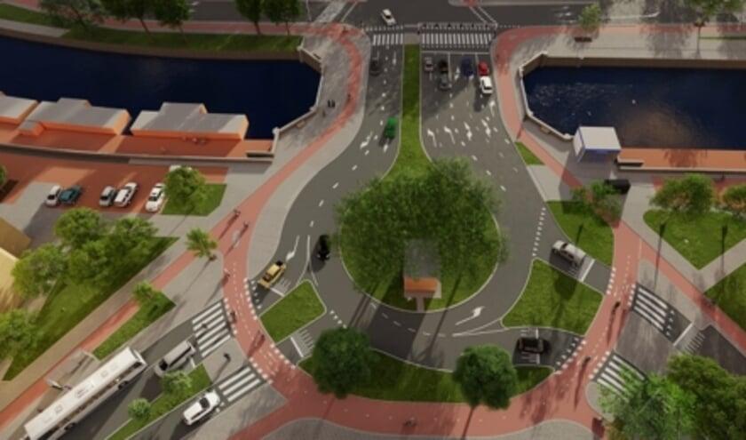 Zo ziet het Soestdijkseplein er na de werkzaamheden uit.