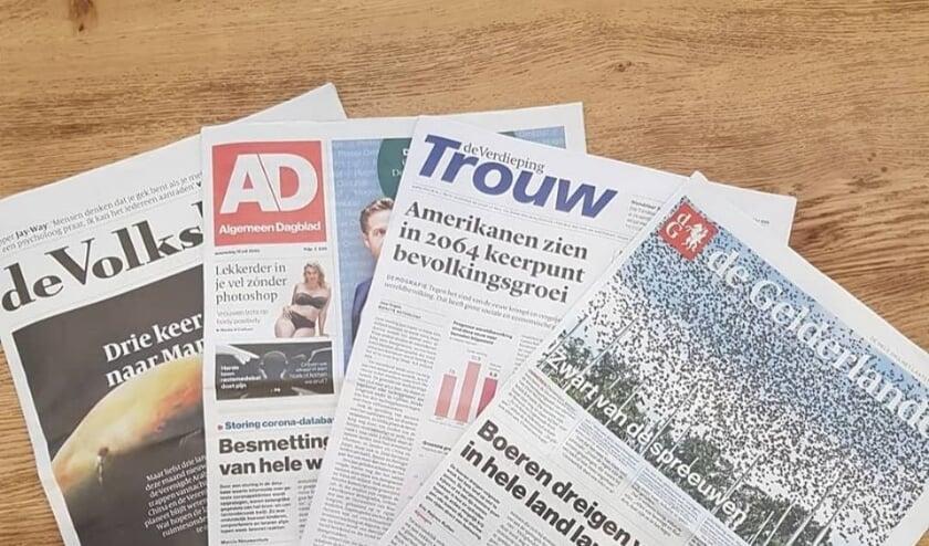Kranten in De Pluk