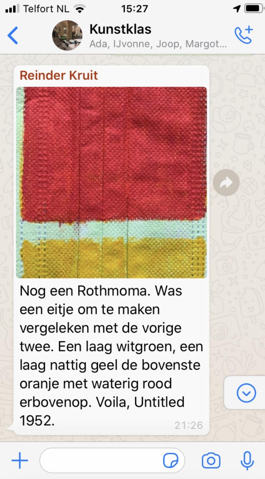 WhatsAppberichtje van Reinder Kruit Foto:  © DPG Media