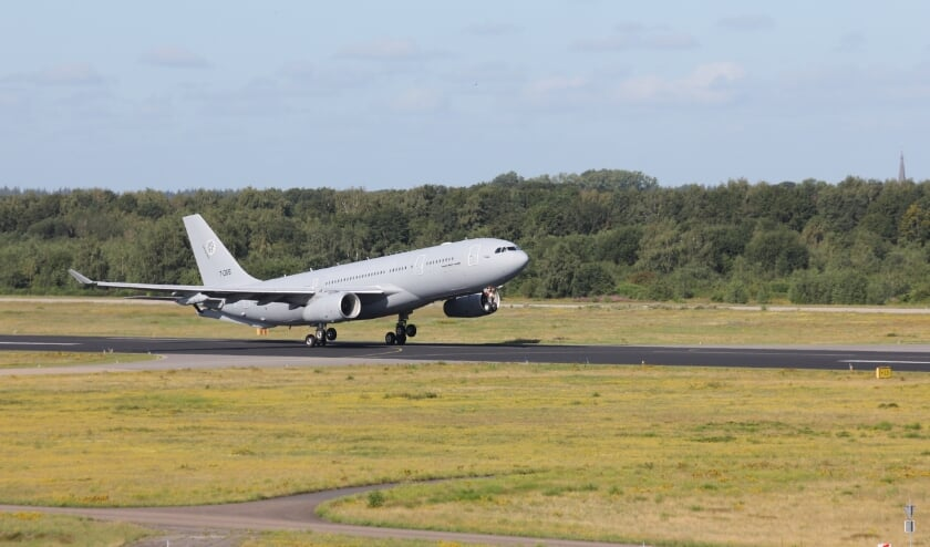 Vertrek voor de eerste vlucht. FOTO: Vliegbasis Eindhoven.