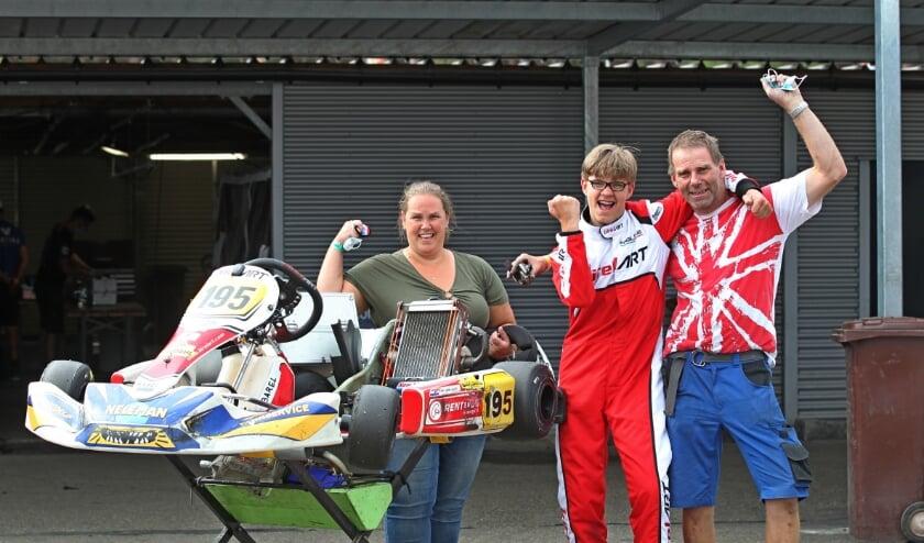 Het veertienjarige talent  werd op het circuit van Genk tweede in de IAME X30 Junioren nationaal-klasse. (Foto: Bas Kaligis/RaceXpress.nl)