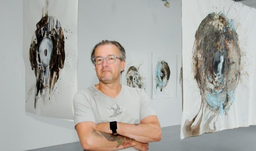 De cultuursector komt weer tot leven.  André Quekel van het Kunstenlab: ''Publiek hoeft nu niet meer te reserveren.'' (foto Gert Perdon)