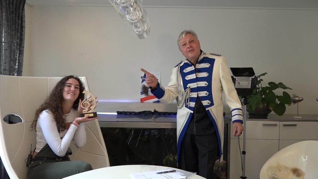 zangeres Dania Schopman en directeur Herman Riphagen van ACC Foto: Harry Vos © DPG Media