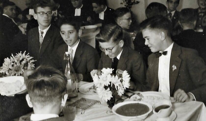 In de eetzaal van het  Instituut van de Broeders van De La Salle in Baarle-Nassau. Foto: Bert Wijnen