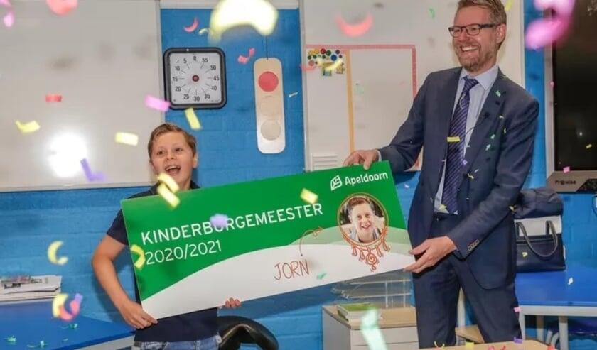 Jorn is de nieuwe kinderburgemeester van Apeldoorn. © Gemeente Apeldoorn/Peter Lous