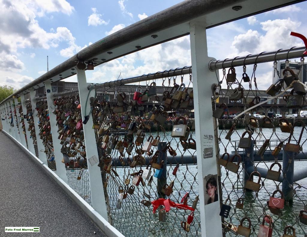 Liefdesbrug (Rijnhavenbrug) Foto: Fred Marree © DPG Media