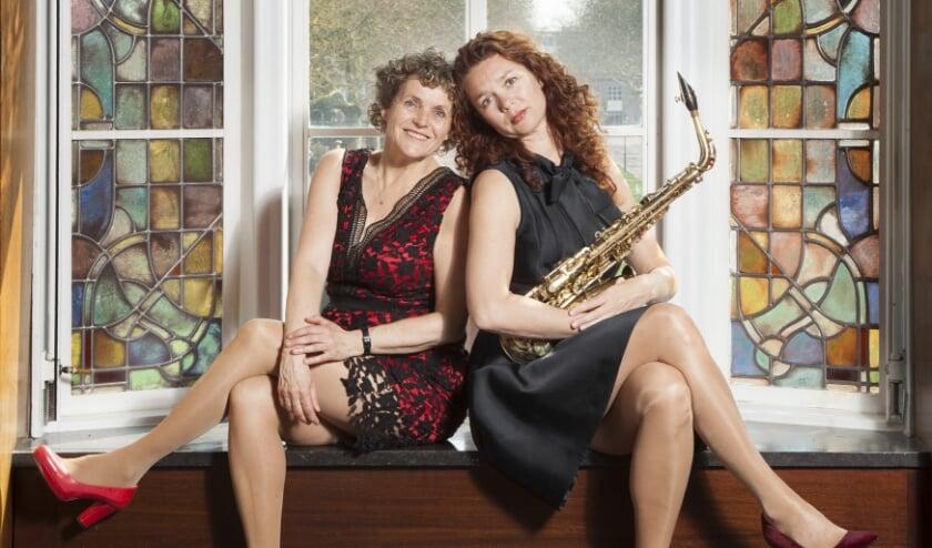 Saxofoniste Aubrey Snell en pianiste Margreet Markerink treden dinsdag 21 juli op in de Oudhoornsekerk. Foto: PR.