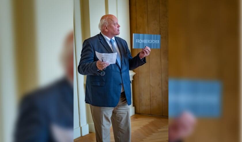 Wethouder Hans de Vroome lanceert de nieuwe naam van Musis Foyer: Fromberg Foyer. Fotocredits: Guido Roncken.
