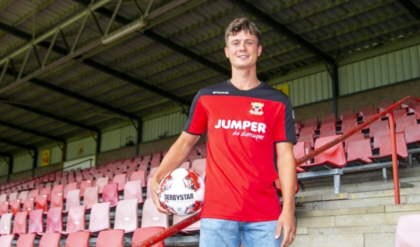 Bas Kuipers tekende vorige week een contract voor twee seizoenen in De Adelaarshorst, nadat zijn oom André Kuipers hem in 2012 vanuit de ruimte al had 'getipt' over Go Ahead Eagles. (Foto: Erik Pasman)
