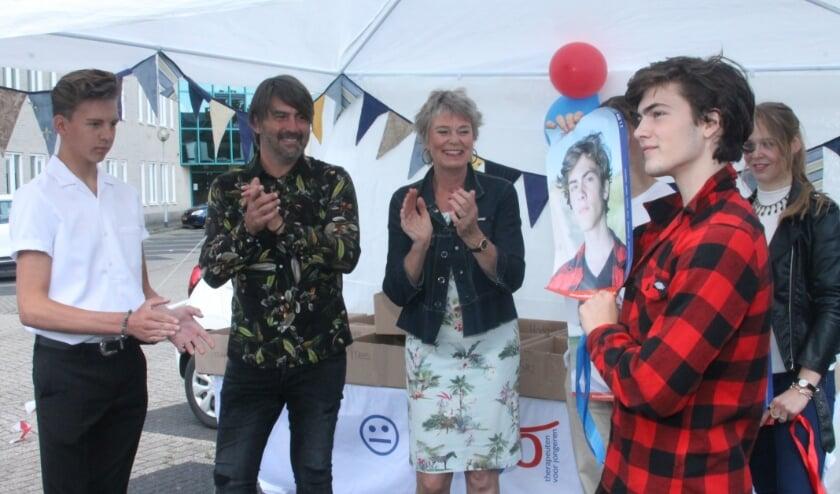 De campagne '5 voor 12' ging feestelijk van start. Van links naar rechts: Dax Hovius, Rem van den Bosch en Marja de Punder-Dobbelaar.
